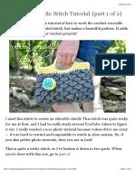 Crochet Crocodile Stitch Tutorial {part 1 of 2}