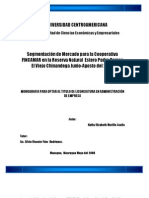 Segmentación de  Mercado para la cooperativa FINCAMAR