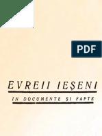 Evreii Ieșeni in documente și fapte - H. Gherner, Beno Wachtel (1939)