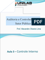 Slides Semestre - Auditoria e Controladoria - Aula 3 - Controle Interno
