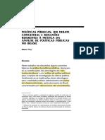 FREY. Políticas Públicas um debate conceitual e reflexões referentes à prática da análise de políticas públicas no brasil