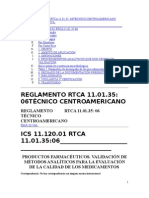 guia validación métodos analíticos Centroamerica