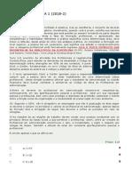 ATIVIDADE OBJETIVA 1   ETICA E RESPONSABILIDADE PROFISSIONAL GABARITO