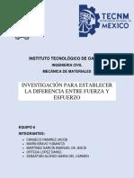 DIFERENCIA ENTRE FUERZA Y ESFUERZO. EQUIPO 6 (1)
