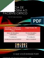 ASSISTÊNCIA DE ENFERMAGEM AO PACIENTE CRÍTICO