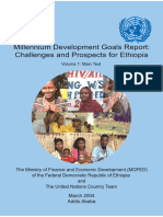 Millenium Development Goals Report Ethiopia