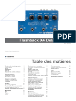 Tc Electronic Flashback x4 Delay Looper Manual French