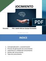 Diapositiva Tema El Conocimiento