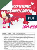 00 Febrero - 2do Grado 2020