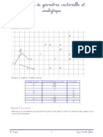 2020_Exos Geometrie vect analy