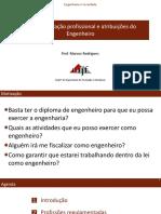01 - Regulamentação profissional e atribuições do Engenheiro