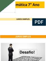 6 - JUROS SIMPLES - Pedagogia Concursos