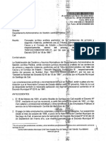 Consulta y respuesta a Juridica del Dto0216 SCS
