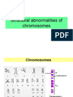 Structural abnormalities of chromosomes