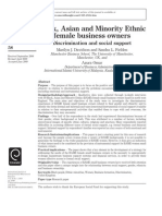 Black, Asian and Minority Ethnic female business owners Discrimination and social support