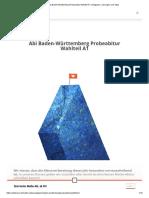 Abi Baden-Württemberg Probeabitur Wahlteil A1 _ Aufgaben, Lösungen Und Tipps