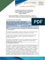 Guía de Actividades y Rúbrica de Evaluación - Unidad 1 - Tarea 2 - Solución de Modelos de Programación Lineal de Decisión