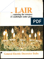 GE Incandescent Flair Decorative Lamps Brochure 1972