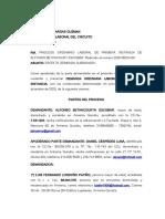 Demanda Alfonso Betancour- Dany Yamid y otros CORREGIDA