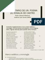 Comentario Rosalía de Castro