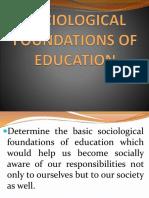 sociologicalfoundationofeducation-160828103347