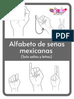 Flash Card de Alfabeto de Señas Mexicanas BN