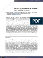 Impacts of the COVID-19 Pandemic on Life of Higher Education Students A Global Perspective