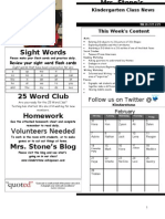 Newsletter Week 26