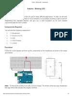 Arduino - Blinking LED - Tutorialspoint