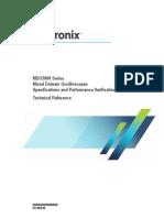 MDO3000 Specifications Performance Verification 077097900 RevH (1)