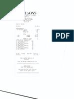 Mr Clayton-M.,Bernard-Ex. Exempt From Levy - Store Purchase Receipt.