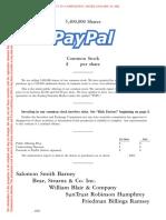 PayPal Prospectus