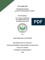 Tugas Rutin Meringkas BAB XI Menentukan Variabel (Metopel) - Yunike (5181143002) Busana B 2018