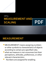 Measurement and Scaling