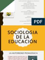 La Sociologia de La Educación