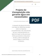 2003_12_20_Projeto de Transposição Não Garante Água Aos Necessitados _ Repórter Brasil