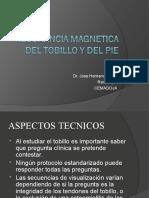 RESONANCIA MAGNETICA DEL TOBILLO Y DEL PIE