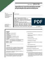 NBR EB 02139 - Dispositivos-fusíveis de baixa tensão para proteção de semicondutores
