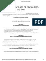 Decreto-Lei Federal 8.530, de 02.01.1946 - lei orgânica do ensino normal