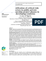 Identification of critical risk factors in public-private partnership project phases in developing countries