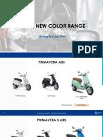 Vespa Color Range July 2020