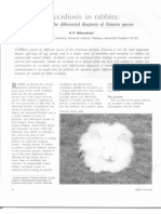 Coccidiosis in Rabbits - A Guide for Differential Diagnosis of Eimeria Specis (KP Jithendran Indian Farming 2011)