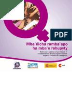 Sistematización del proceso de fortalecimiento de una organización de mujeres rurales en Paraguay
