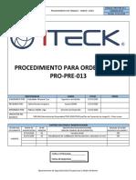 PRO-PRE-013 Orden y Aseo Rev.02
