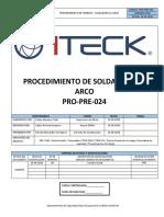 PRO-PRE-024 Soldadura Al Arco