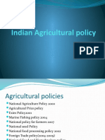 Indian Agricultural Policy