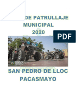 Plan de Patrullaje Municipal Zonificado 2020