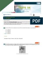 Teste 01 - Física II