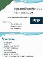 l'Analyse Granulométrique Ppt