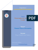4. Preservantes de Anestésicos Locales - Manuel FH